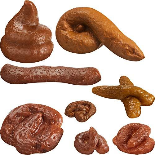 Boao 8 Stücke Falsch Poop Realistische Gefälschte Turd Neuheit Schwimmend Gefälschte Poop Spielzeug für Aprilscherz, 8 Verschiedene Formen