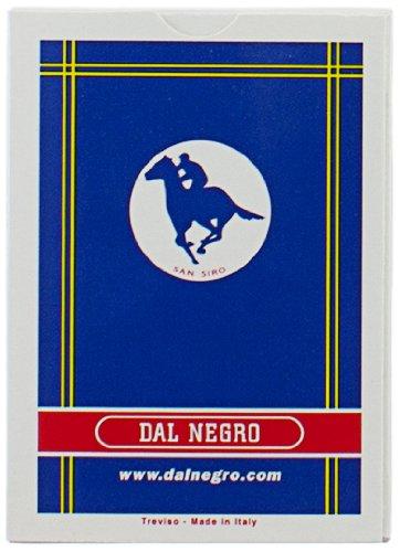 Dal Negro San Siro Cartes à Jouer Bleu