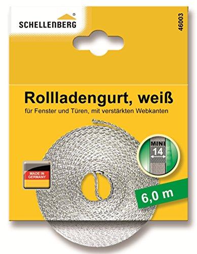 Schellenberg 46003 Rollladengurt 14 mm x 6 m - System MINI, Rolladengurt, Gurtband, Rolladenband