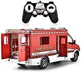 JUGUETE F Control Remoto Camiones Rescate, Modelos 2.4G RC Vehículo Coche Aleación Construcción para Fuego Ambulancia Niños Regalo Los Juguetes, Primera Infancia Juguetes Educativos