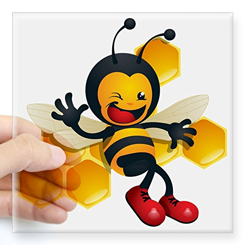 CafePress schattige baby honing hommel bij Square Bumper Sticker