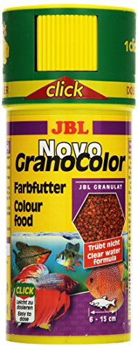 JBL NovoGranoColor 30104, Alleinfutter für große farbenprächtige Aquarienfische, Granulat, 250 ml