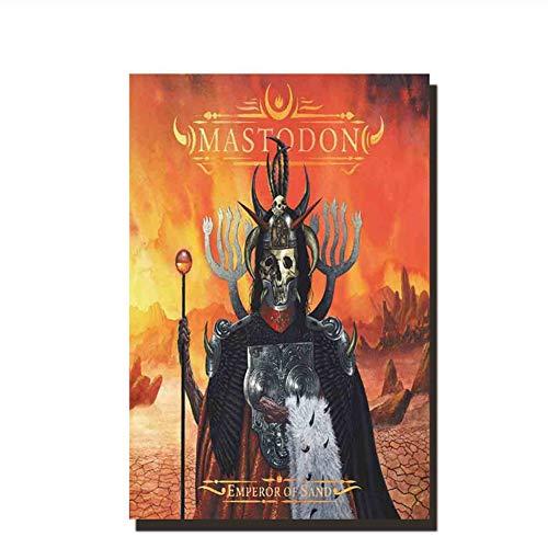 Suuyar Rockmusik Mastodon deckt Plakatkunst Leinwand Malerei Dekoration Raumwand Bilddruck auf Leinwand Wandkunst -50x70cm ohne Rahmen