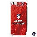 Atlético de Madrid Carcasa Oficial Coraje y corazón iPhone 6 Plus-6S Plus - La Casa de Las Carcasas