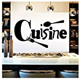 Mrlwy Wall Sticker Art Delicious Cusine Vinyl Self Adhesive Wallpaper Decor Kitchen Removable