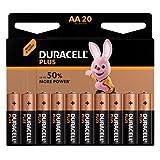 Duracell - Plus AA Pilas, paquete de 20, Exclusivo de Amazon