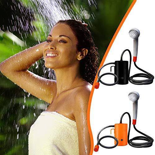 Fengyj Tragbare USB-Außendusche, wiederaufladbare elektrische Handdusche, Pumpen Wasser Camping-Dusche 1,8m