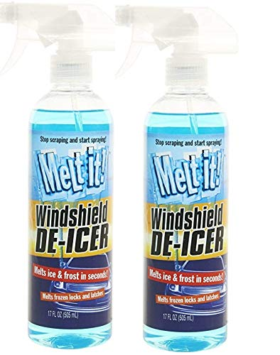 Melt it! Windshield De-Froster and De-Icer. Instantly Melts ice and Frost in Seconds for windshields, Windows, Mirrors, Key Locks, latches and More. No Scraping or Chipping (Two - 17oz)