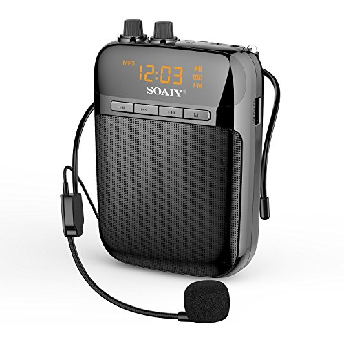 SOAIY S518 Ultralight Portable Voice Amplifier with LED Display, 2000mAh Rechargeable Loudspeaker wi - coolthings.us