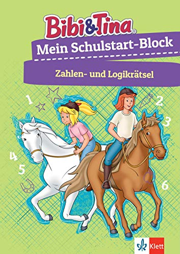 Bibi & Tina: Mein Schulstart-Block Zahlen- und Logikrätsel: Vorschule, ab 5 Jahren