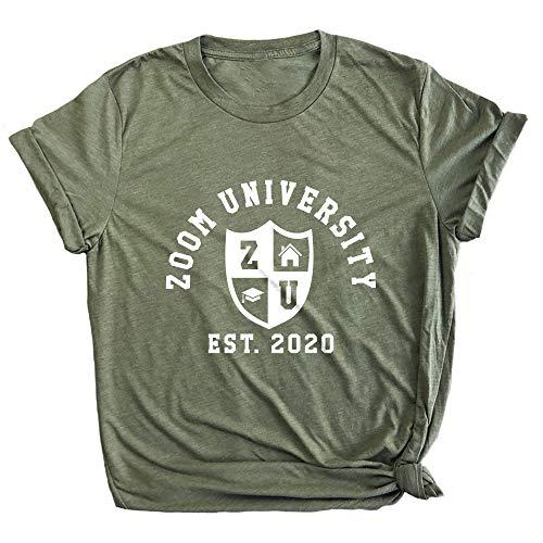 Spunky Pineapple Zoom University Funny Quarantine Life Premium T-Shirt Olive