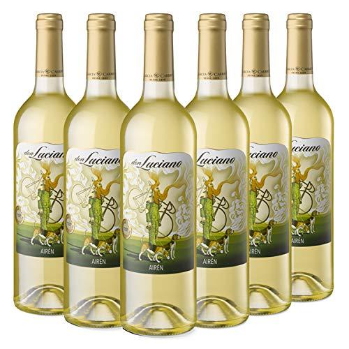 Don Luciano Airén - Vino Blanco D.O. La Mancha - Caja de 6 Botellas x 750 ml