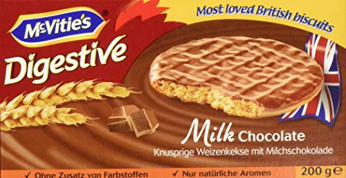 McVitie's Digestive Milk Chocolate, Vollkornkeks, Weizenkeks, (10 x 200g)