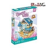 PLAYSTORE 3D Puzzle LED Rural Villa-CASA DE MUÑECAS 132 Piezas
