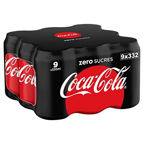 Coca-Cola - Zero, Lata 330 ml (Pack de 9)