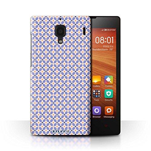 STUFF4 telefoonhoesje/hoes voor Xiaomi Redmi/blauw ontwerp/molen patroon collectie
