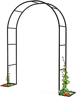 ガーデンアーチ 庭院 拱门パーゴラ 組立 キット花朵形状 DIY (组装简单花艺 迷宫 花园艺术家 公园拱廊 蔷薇 铁甲 园艺) (黑色)