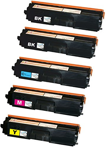 Prestige Cartridge TN-325 5-er Set Toner kompatibel für Brother DCP-9050CDN, DCP-9055CDN, DCP-9270CDN, HL-4140CN, HL-4150CDN, HL-4570CDW, HL-4570CDWT, MFC-9460CDN, MFC-9465CDN, MFC-9970CDW