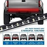 Fuguang 60'' 2-Row Truck Tailgate Light Bar 5-Function Flexible Strip Lights 216Leds High