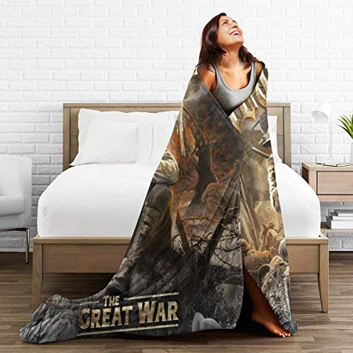 ENGXINYANJING Sabaton The Great War Ultra-Soft Micro Fleece Blanket Throw Superweiche Fuzzy Lightweight Hypoallergenic Plüschbett Couch Wohnzimmer