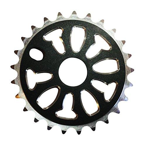 Hochwertige Fahrrad-Kettenblatt-Kettenblatt-Legierung, CNC, BMX, 25 mm, Schwarz