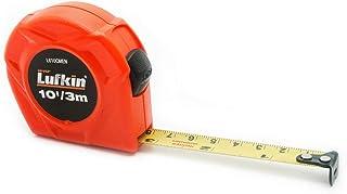 "Crescent Lufkin L610CMEN 1/2"" x 3m/10' Hi-Viz Orange SAE/Metric Yellow Clad Power Return Tape Measure"
