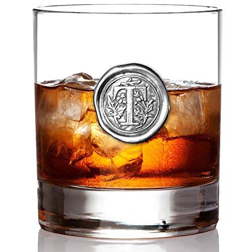 Monogrammed Whiskey Rocks Glass