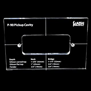 KAISH Acrylic Pickup Routing Template Pickup Templates for P-90 Pickup Body Rout