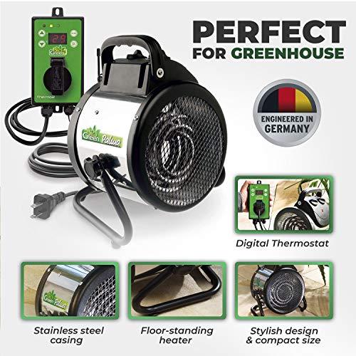 Bio Green Pal 2.0 / USDT Palma温室加热器包括。数字温控器