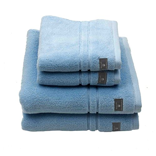 GANT Premium Terry Seiftuch 4er-Set 4 Tücher à 30x30 Light Blue