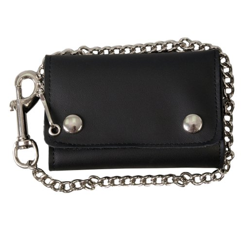 Hot Leathers (WLB2007 Black, 4' Extra Wide Wallet with Lobster Claw Clip