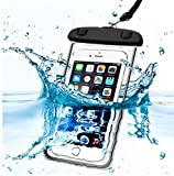 PHONILLICO Sac Waterproof Noir pour Sony Xperia XA1 XA2 XZ Premium XZ1 XZ2 C4 C5 E5...