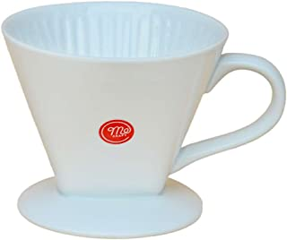 Mecraft -Ceramic Coffee Dripper/Pour Over for 1-4 Cups(White)