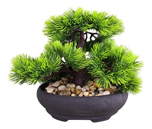 HoitoDeals 1 árbol de bonsái de imitación oriental en estilo de árbol de abeto para el hogar, decoración de jardín, artículo de regalo