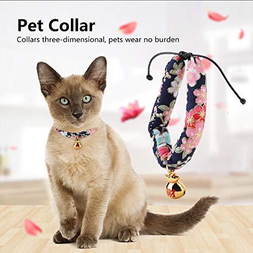 Redxiao~ 【𝐁𝐥𝐚𝐜𝐤 𝐅𝐫𝐢𝐝𝐚𝒚 𝐃𝐞𝐚𝐥𝐬】 Bequemes Haustierhalsband aus weichem Stoff, Hundehalsband, Katze für Hundehalsband(Blue S)