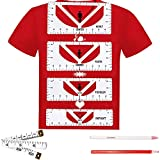 BIHRTC 4PCS T Shirt Rulers to Center Vinyl PVC T Shirt Alignment Tool Shirt Guide Ruler Tee Centering Tools for Heat Press with 2PCS Sewing Mark Chalk Pencil 1PC 60Inch Measure Tape