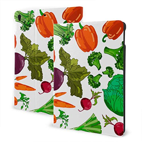 Cool iPad Covers 2019 iPad Air3 / 2017 iPad Pro 10.5 Inch Case / 2019 iPad 7th 10.2 Inch Case Garden Zanahorias Repollo Otras Verduras Funda Protectora para iPad para niños Auto Wake/Sleep