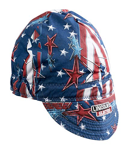 Lincoln Electric Welding Cap  Mesh Inside Liner   All American Print  K3203-ALL