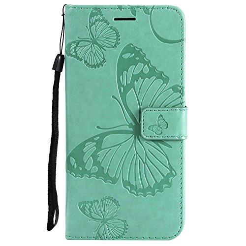 DENDICO Cover iPhone 7 Plus, Cover iPhone 8 Plus (5.5'), Pelle Portafoglio Custodia per Apple iPhone 7 Plus / 8 Plus Custodia a Libro con Funzione di appoggio e Porta Carte di cRossoito - Verde
