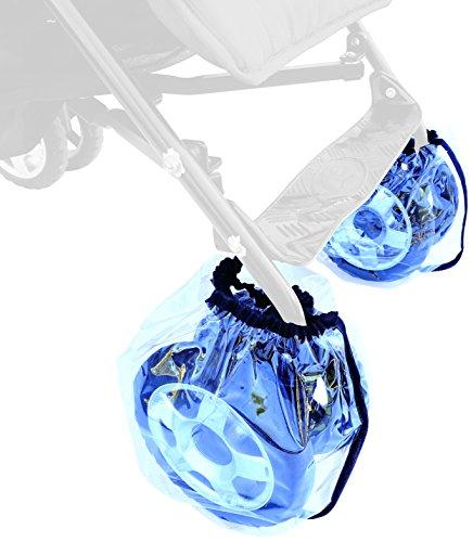Sunnybaby 11900.0 Radschutz für Buggyräder, 2 Stück-Packung Folie, transparent