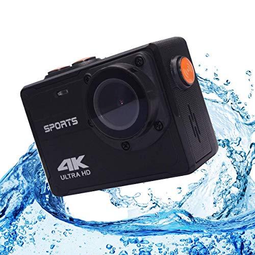 """VM8580 4K WIFI Camera d\'azione impermeabile, Macchina fotografica subacquea/ 16MP/ Telecamera a schermo LCD da 2\""""/ 150 gradi grandangolare/Nessun alloggiamento necessario entro 5 metri sott\'acqua"""
