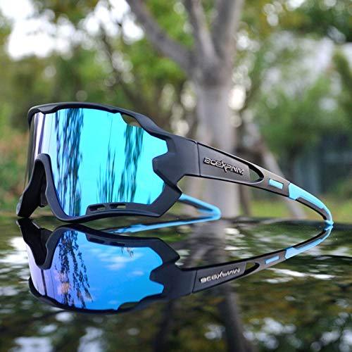 RSTT Gafas de sol polarizadas para deportes al aire libre, ciclismo de montaña, 4 lentes de circulación, UV400