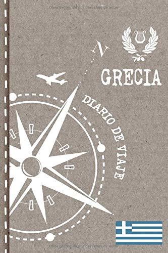 Grecia Diario de Viaje: Libro de Registro de Viajes - Cuaderno de Recuerdos de Actividades en Vacaciones para Escribir, Dibujar - Cuadrícula de Puntos, Bucket List, Dotted Notebook Journal A5