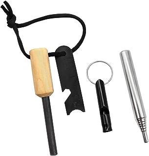 Feuerstarter Feuerzeug Magnesium Feuerstein Notfall Camping Survival Gear Kit