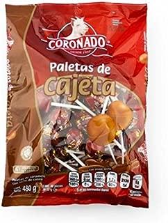 Coronado Cajeta Lollipops Limited edition (40 Pieces in bag) made with goat milk caramel super tasty mexican candy snacks con leche de cabra real