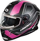 Castle X Thunder 3 SV Trace Electric Snowmobile Helmet (LRG, Matte Pink)