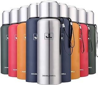 JINLING スポーツボトル 水筒 魔法瓶 真空断熱 保温保冷 大容量 304ステンレス鋼 0.5/0.75/1/1.5リットル