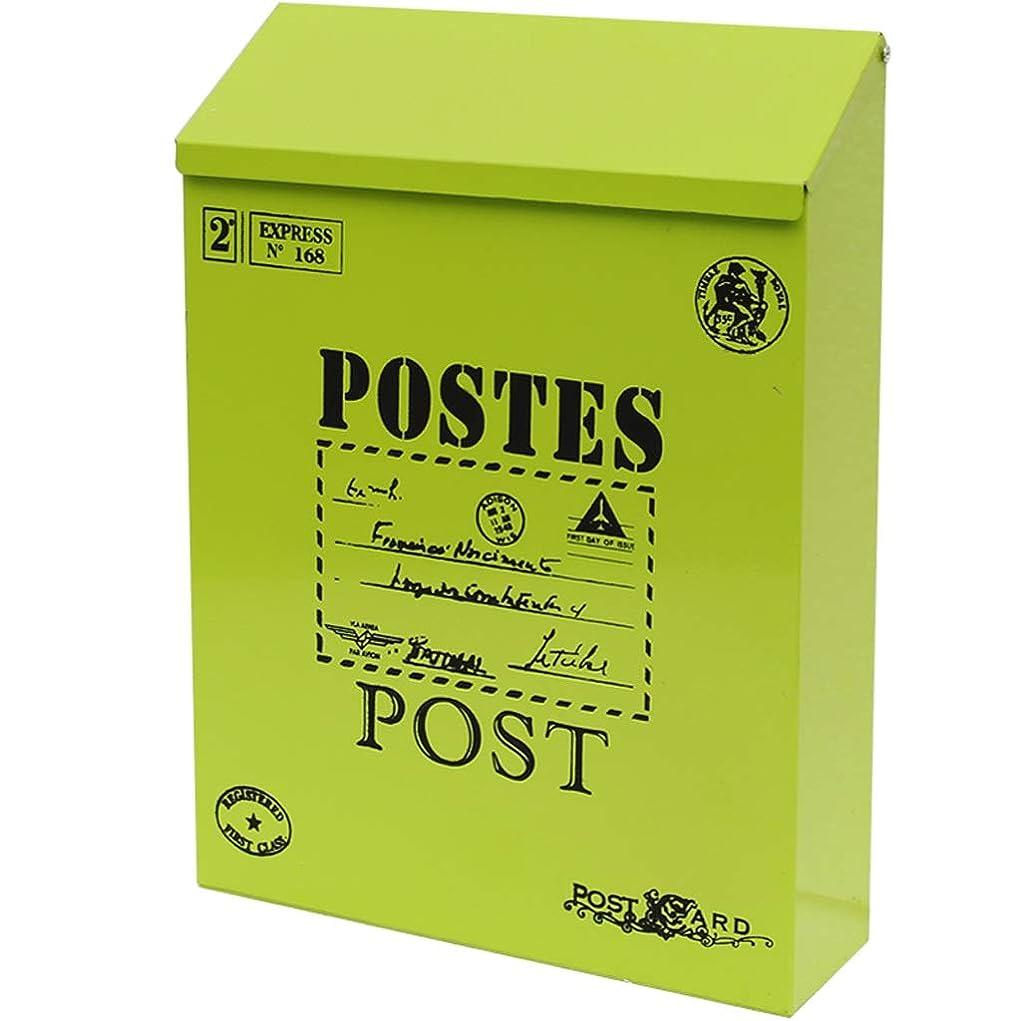 必要交通危険にさらされているYQCS●LS かわいいクリエイティブメンタルメールボックス屋外雨防水ガーデン小さな提案ボックス付きロックメタルボックス壁メールボックスメールボックス。