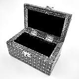joyero de plata hecho a mano interior suave Cofre del tesoro Caja de regalo para regalo Caja Tarjetas Colección 855
