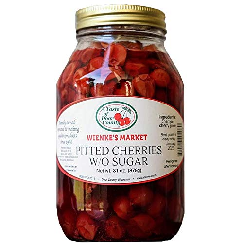 Weinke's Wisconsin Montmorency Pitted Cherries - 32 Ounce - W/O Sugar - Door County Grown Fruits - Healthy Snacks - Use for Baking - Pies - Cobbler - Muffin